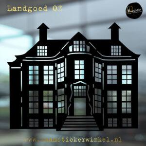 Raamsticker Landhuis OZ
