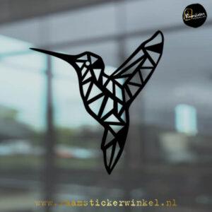 raamsticker Kolibrie geometrisch zwart k