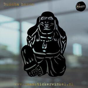 Raamsticker Buddha horen RSW