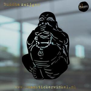 Raamsticker Buddha zwijgen RSW