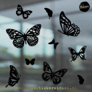 raamstickers vlinders zwart RSW