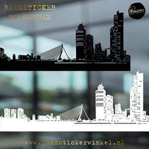 Raamsticker skyline Rotterdam