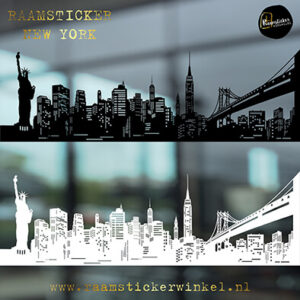 Raamsticker Skyline New York RSW k kopie