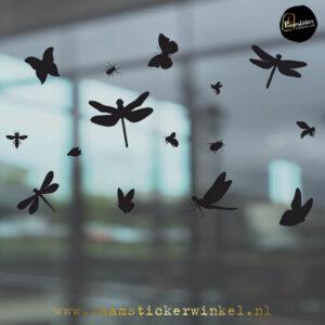 Raamsticker insecten enzo zwart RSW