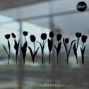 Raamsticker tulp tulpen zwart RSW